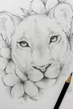 Pencil Drawings Of Animals, Dark Art Drawings, Art Drawings Sketches Simple, Animal Sketches, Cool Drawings, Realistic Animal Drawings, Draw Animals, Lion Sketch, Disney Drawings