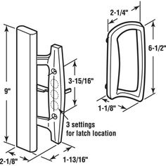 Prime-Line Sliding Glass Door Handle Set, 3-15/16 in., Diecast, White, Mortise/Hook Style-C 1204 - The Home Depot Sliding Door Handles, Sliding Patio Doors, Sliding Glass Door, Patio Door Handle, Door Handle Sets, Mortise Lock, Classic Doors, Lock Style, Ace Hardware