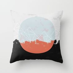 Landscape Abstract Throw Pillow