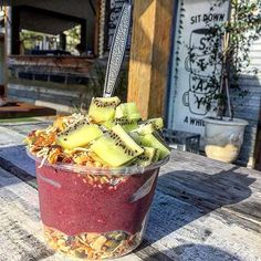 """382 Likes, 15 Comments - Burleighsocial (@burleighsocial) on Instagram: """"WE ❤️ SMOOTHIE BOWLS @amazoniaco @pinkpitaya"""""""