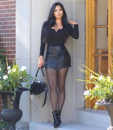 Sexy Outfits, Cute Outfits, Fashion Outfits, Look Fashion, Fashion Models, Look Body, Pernas Sexy, Looks Pinterest, Sexy Legs And Heels