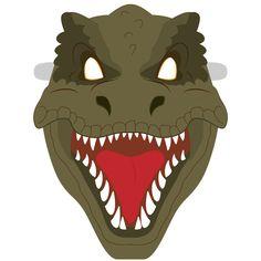 T-Rex Mask Template Paper crafts Paper Dinosaur, Dinosaur Mask, Templates Printable Free, Printables, Dinosaur Template, Festa Jurassic Park, Printable Animal Masks, Mask Template, Paper Mask