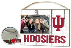 Indiana Hoosiers Clip It Weathered Logo Photo Frame #IndianaHoosiers