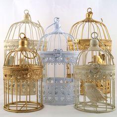 Deko Metall Vogelkäfig diverse Farben und Größen in Möbel & Wohnen, Dekoration, Sonstige | eBay
