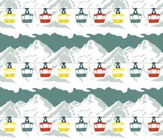 Gaga for Gondolas fabric by katielenius on Spoonflower - custom fabric
