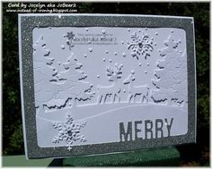 Window of white! by - Cards and Paper Crafts at Splitcoaststampers Christmas Deer, Christmas Cards, Xmas, Christmas Challenge, Winter Cards, Masculine Cards, Card Tags, Embossing Folder, Photo Cards