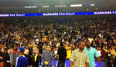 On May 22, Oakland-Alameda County Coliseum Authority hosted an end-of-the season Fan Rally to celebrate the success of the Warriors 2012-13 season.