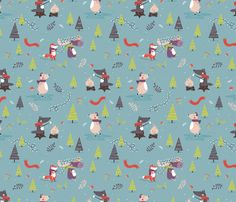 Winter ForRest fabric by ewa_brzozowska on Spoonflower - custom fabric