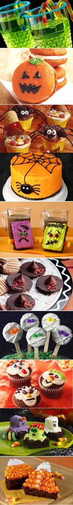 I like the top image, with the green drink! Tons of Halloween Treats!