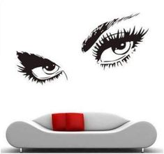 Get the perfect decor for your spa, or wax and lash bar! This large, durable, easy application wall decal is exactly what will inspire your clientele to want lashes and perfect brows! Can you say, add Wall Stickers, Wall Decals, Wall Art, Audrey Hepburn, Brow Studio, Art Noir, Eyelash Salon, Lash Room, Perfect Brows