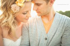Love the light and romance here. I love that this couple is already married. How fun is that?!