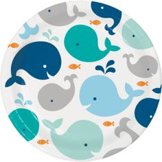 Blue Whale 9 Inch Lunch/Dinner Plates (8 ct)