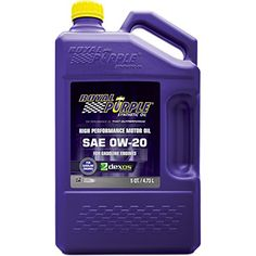 Royal Purple 51020 APILicensed SAE 0W20 High Performance Synthetic Motor Oil  5 qt -- Be sure to check out this awesome product affiliate link Amazon.com