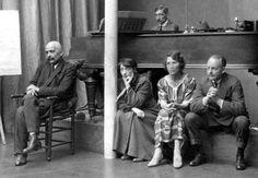 Gurdjieff observing movements in Jessmin Howarth's Dalcroze studio, Paris 1922…