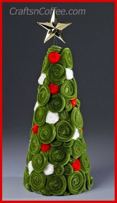 Pipe Cleaner Christmas crafts - Make Pipe Cleaner Cone Trees (Dollar Store Crafts) Stick Christmas Tree, Noel Christmas, Christmas Crafts For Kids, Simple Christmas, Christmas Projects, Holiday Crafts, Christmas Decorations, Christmas Ornaments, Christmas Crafts Pipe Cleaners