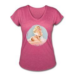 Trisha Paytas Women's V-Neck Tri-Blend T-Shirt XXL