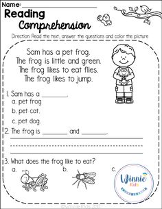 Kindergarten Reading Comprehension Passages is a set of 20 spring themed reading passages for emergent and early readers. Reading Comprehension Worksheets, Reading Fluency, Reading Passages, Reading Strategies, Comprehension Strategies, First Grade Reading Comprehension, Common Core Reading, English Reading, Reading Response