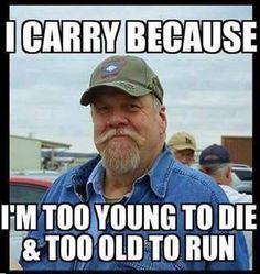 Why do you carry a gun?