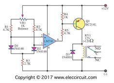 Here is temperature sensor diode silicon type and op amp, so easy. The Output to voltmeter. You will learn why diode becomes temperature sensor. Diy Electronics, Electronics Projects, Simple Electronic Circuits, Electrical Circuit Diagram, Kindle Fire Tablet, Electronic Workbench, Electronic Circuit Projects, Electronic Schematics, Temperature Measurement