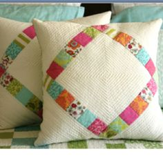 Quilted pillow covers :)