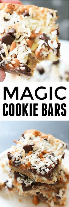 Seven Layer Magic Cookie Bars Recipe - Six Sisters' Stuff   These 30 minute bars are the perfect dessert or treat to fill a craving. #dessert #bars #sixsistersrecipes