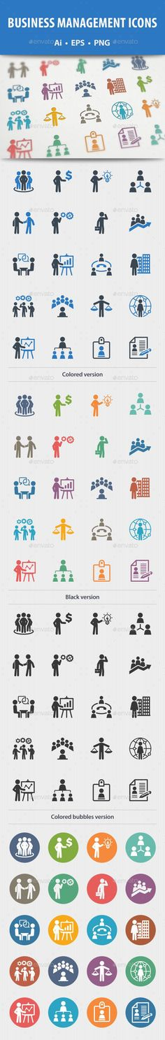 Buy Business Management Icons by on GraphicRiver. This set contains Business Management Icons that can be used for designing and developing websites, as well as printe. Buy Business, Business Icon, Online Business, Right To Education, Leadership Tips, Information Graphics, Business Management, Printed Materials, Chart