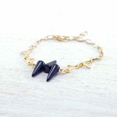 Black Spike Bracelet by kellyssima on Etsy