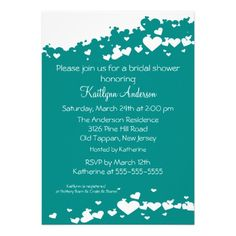 Discount DealsTeal Field of Hearts Bridal Shower InvitationThis site is will advise you where to buy