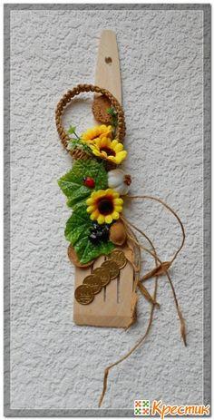 оберег на основе кухонной лопатки Jute Crafts, Diy Arts And Crafts, Craft Stick Crafts, Creative Crafts, Diy Crafts To Sell, Crafts For Kids, Paper Crafts, Wooden Spoon Crafts, Diy Y Manualidades