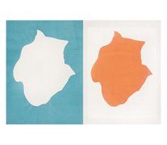 """""""Contrepartie en deux Lumières I,"""" 2002. Woodcut. 62x92 cm. Ed. 20.Frédérique Lucien was born in 1960 in Briançon. She lives and works in Paris."""
