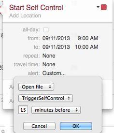 Kyle Halladay - Automating SelfControl in OS X Mavericks