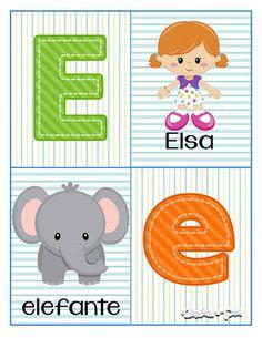 Alphabet cards to learn the letters - Modern Preschool Lessons, Preschool Activities, Alphabet Cards, Pre Kindergarten, Letter Activities, Baby Learning, Kids Education, Homeschool, Kids Rugs