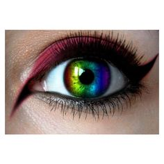 Rainbow Contact Lenses Prescription and Nonprescription, Where to Buy... ❤ liked on Polyvore featuring accessories