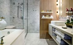 The luxe spa bathroom in the Smyth TriBeCa Penthouse in New York City