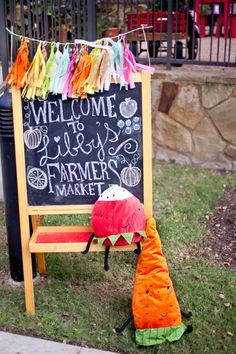 Farmer's Market Themed Party - very cute!