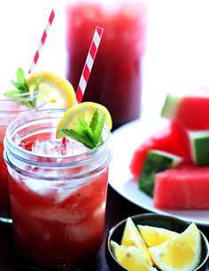 Watermelon-Mint Lemonade--Kids will love this all-natural summer drink, and parents will appreciate this new way to use leftover watermelon.
