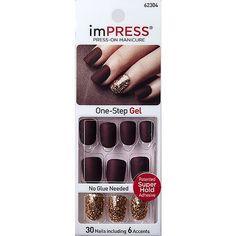 Impress Nails Press On, Kiss Press On Nails, Kiss Nails, Matt Nails, Stick On Nails, Glue On Nails, Gel Glue, Fake Nails For Kids, How To Do Nails