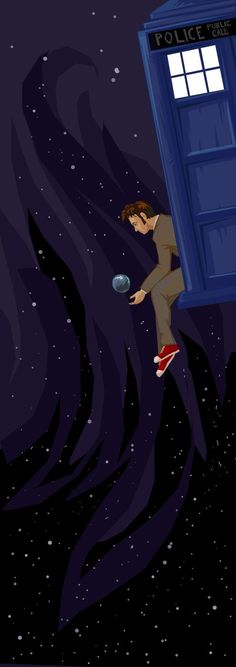 Doctor Who and the TARDIS.