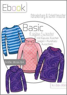 Ebook Basic Raglan Sweater - Ebook - Schnittmuster und Anleitung als Pdf Datei, versandkostenfrei!