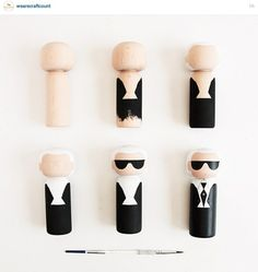 Karl Lagerfeld peg doll steps
