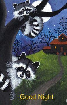 aceo print raccoon halloween haunted house by WoundedTreeGallery Raccoon Halloween, Halloween Moon, Halloween Witches, Happy Halloween, Raccoon Art, Cute Raccoon, Animal Paintings, Animal Drawings, Art Drawings