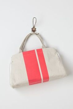 clare vivier pink striped painter tote