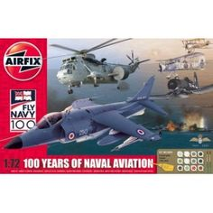 100 Years of Naval Aviation Collection - - Airfix Westland Lynx, Fairey Swordfish, Airfix Models, Aviation, The 100, Aircraft, Military, Navy, History