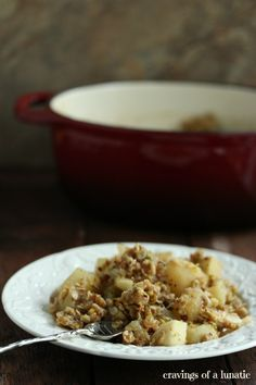 Pear, Apple and Pistachio Crumble from cravingsofalunatic.com ...