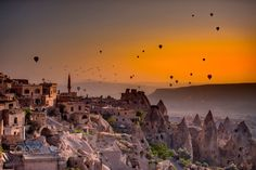 The miracle of God Time: 05:52 by ZekiSeferoglu  field landscape lands sunset nature travel sun vacation turkey tourism summer nikon balloons happy t