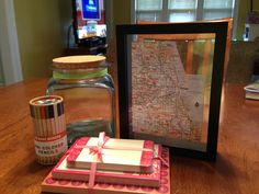 Great going away gift for a friend. Fill the jar with thoughtful words, private jokes or famous quotes and frame a map of their new city. Going Away Parties, Going Away Gifts, Party Themes, Party Ideas, Gift Ideas, Farewell Gifts, Famous Quotes, Artsy Fartsy, Gifts For Friends
