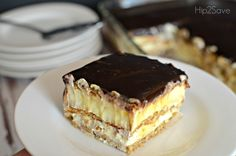 Eclair Cake - quite possibly one of my favorite desserts. Like ever.