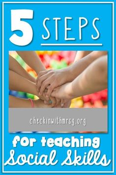 Five steps to teaching social skills in your special education classroom. Social skills group activities can support students in finding social and academic success. Help your students develop social skills! Social Studies Curriculum, Social Studies Notebook, Social Studies Resources, Social Skills Activities, Teaching Social Skills, Group Activities, Kindergarten Activities, Autism Behavior Management, Classroom Management
