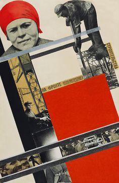 An der Front des sozialistischen Aufbaus Gustav Klutsis Collage Landscape, Russian Constructivism, Avantgarde, Russian Avant Garde, Propaganda Art, Socialist Realism, Murals Street Art, Russian Art, Advertising Poster