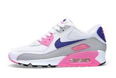 NIKE AIR MAX 90 (CONCORD/PINK GLOW) - Sneaker Freaker. Something for the ladies.